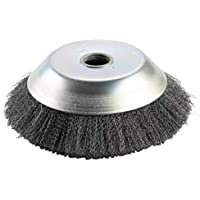 Cepillo de malezas Rotary Joint Nudo de torsión Disco de cepillo de rueda de alambre de acero 200X25Mm Paisajismo y corte de riego - Plata