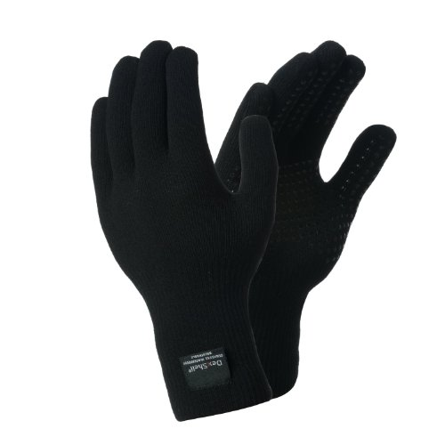 DexShell Herren Handschuhe Thermfit, wasserdicht, atmungsaktiv, schwarz - schwarz, L