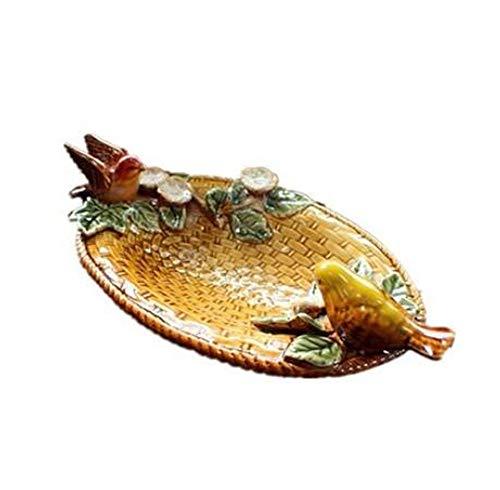 PORCN Obstteller Kreative 2 Lebendige Vögel Keramik Obst Süßigkeiten Dessert Ornament Handgemachte Seife Porzellanplatte Handwerk Wohnkultur Hochzeit Dekoration -
