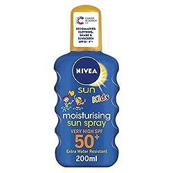 Nivea Sun Kids Schutz & Pflege Sonnenspray, Lichtschutzfaktor 50+, 1er Pack (1 x 200 ml)