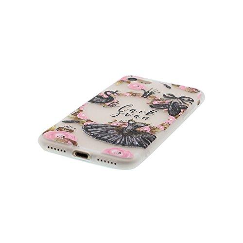 iPhone 6S Copertura,iPhone 6 Custodia,Ultra copertina protettiva del fumetto della pelle TPU del gel di silicone molle eccellente sottile di cristallo TPU case cover per il iPhone 6 / 6S-cactus 2