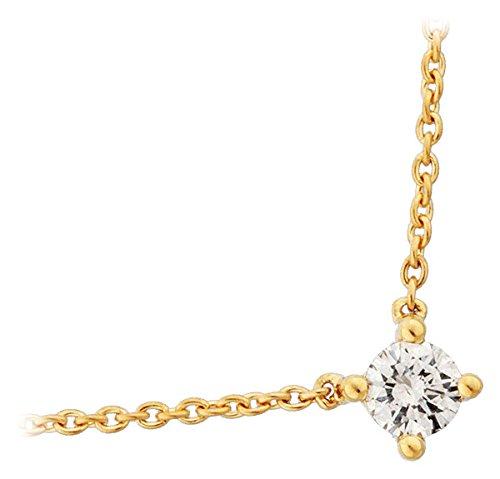 Orleo - REF7244BB : Collier Femme Or 18K jaune et Diamant - 0.20 carat