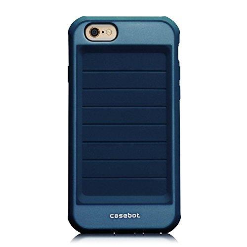 Fintie iPhone 6 Plus / iPhone 6S Plus Hülle - [CaseBot Mighty Armor Series] Rugged Skin Shock Proof Schutzhülle Tasche Case Impact Resistant Bumper für Apple iPhone 6S / 6 Plus (5.5 Zoll), Grün Tough Suit-Marineblau