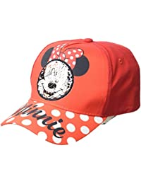Disney Minnie Mouse Gorra, Niñas, Rojo, 56 cm