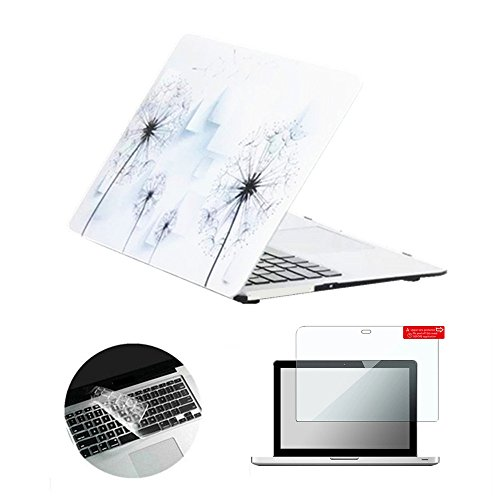 Se7enline Altes MacBook Pro 13-Zoll-Gehäuse 2009-2012 Hartplastikgehäuse für MacBook Pro 13-Zoll-Tastaturabdeckung Modell A1278, Displayschutzfolie, Löwenzahn (13-zoll-fall Macbook Pro 2010)