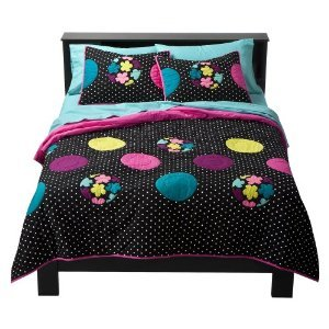 xhilarationr-dot-quilt-black-twin