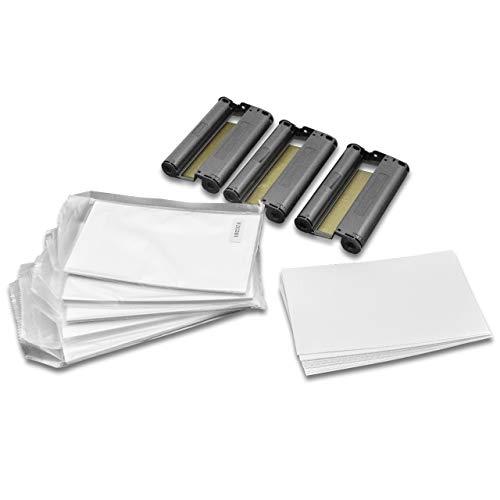 vhbw 3X Drucker Patrone Kartusche Tinte inkl. Papier Cyan, Magenta, Gelb für Fotodrucker Canon Selphy CP-780, CP-790, CP-800, CP-810 wie 3115B001