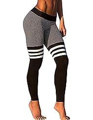 pantalón chandal mujer Sannysis yoga pantalón mujer runing color de raya (M)