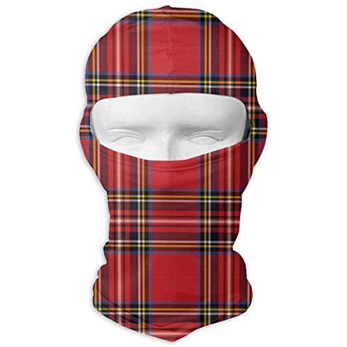Wdskbg Ski Mask Red Buffalo Plaid Sun UV Protection Dust Protection Wind-Resistant Face Mask for Running Cycling Fishing New3 - Buffalo Plaid Fleece
