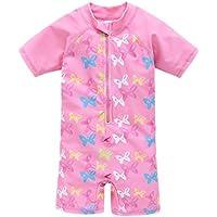 Trajes de baño Lindo Uno de los bebés Lindo Trajes de Pieza de natación del Traje de baño Rosa Impreso Traje de baño para Las niñas Niños (Color : Pink, Size : 6T)