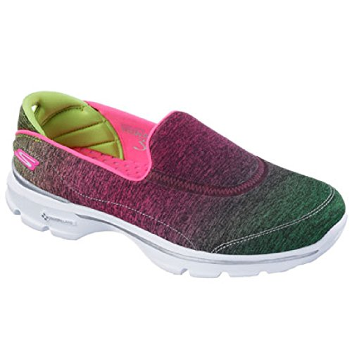 Skechers - Scarpe da ginnastica che si infilano - Donna Rosa/Lime