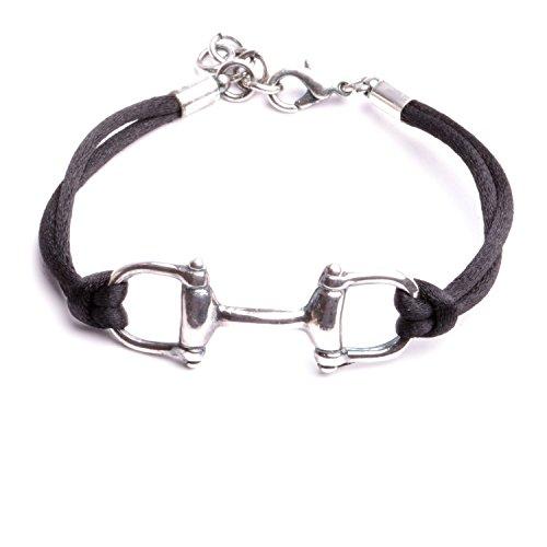 Armband mit Einsatz in Form einer Trense - perfekt für Pferdeliebhaber - Französisches Design.