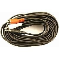 VSE 610410–Cable adaptador en Y, 3.5jack a 2conector Rca, 10m de longitud, color negro