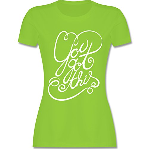 Statement Shirts - You got this - tailliertes Premium T-Shirt mit  Rundhalsausschnitt für Damen
