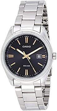 Casio Men's Quartz Watch, Analog Display and Stainless Steel Strap Mtp1302D-1A2, Silver