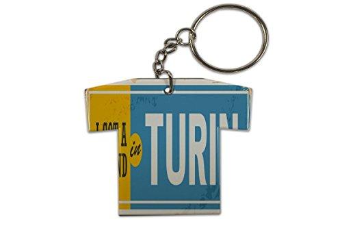 LEotiE SINCE 2004 Schlüsselanhänger Reisen Küche Turin Italien Trikot bedruckt