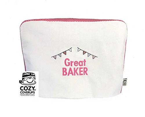 CozyCoverUp® Cubierta para mezclador de alimentos para Kitchenaid 4.8 L 5 QT Artisan Pink Spot bordado Great Baker.