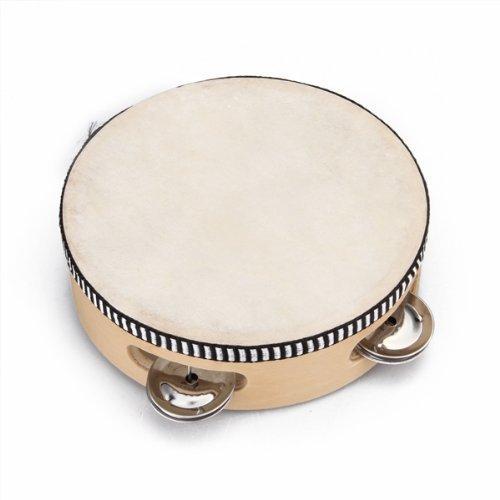 SODIAL (R) 6-Zoll-Tanz Xinjiang Kinder Schlagzeug Tambourine Holzfarbe