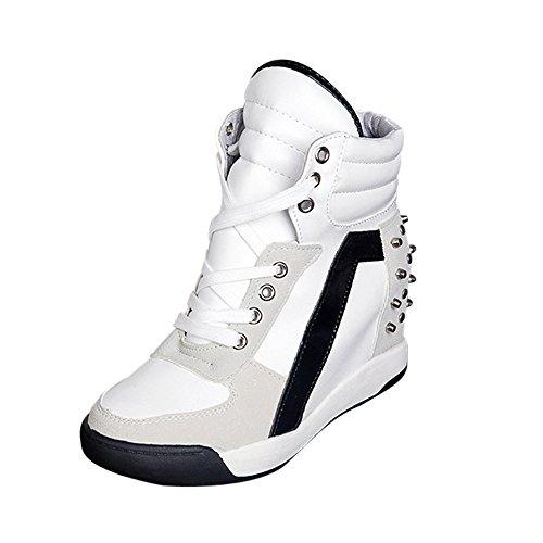 Qinsling Donna Scarpe da Ginnastica Sportive Fitness Sneaker Donna Stivali Donna Rivetto Interno Stivaletti Scarpe da Casual Caviglia Tacco Alto da A Testa Tonda Sandali