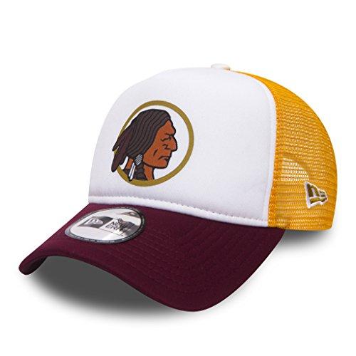 New Era NFL Throwback Truck Adjustable Washington RED Skins Weiß Gelb, Size:ONE Size Throwback Hat Cap