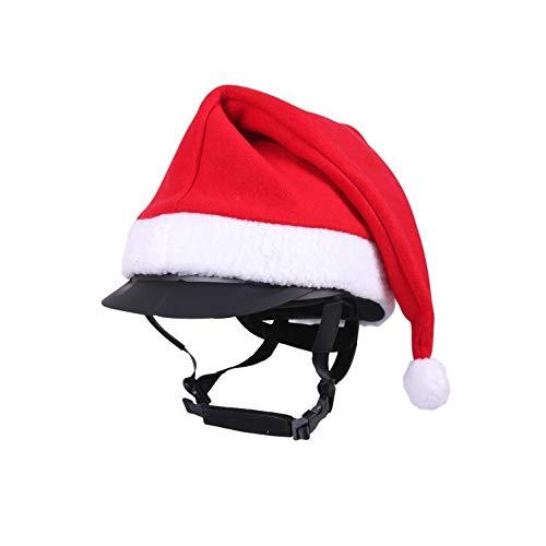 netproshop Unisex Winter-Weihnachtsmütze für Reithelm Rot One Size