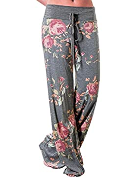 AMUSTER Mode Donne Stampa Floreale Leggings Pantaloni Leg Leggings