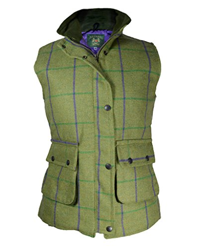 Tan-moleskin (Green Belt Damen Weste Gr. 34, Light Tweed Purple Lining)