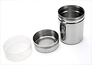 KaLaiXing brand Shaker. Stainless Chocolate Shaker Icing Sugar Salt Cocoa Flour Coffee Sifter--silver