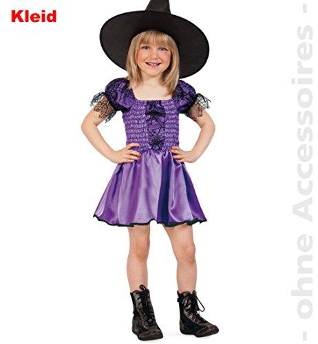 Halloween Kostüm Belle Kleinkind (Hexlein Halloween Kleid Mädchen 1tlg. lila Gr)