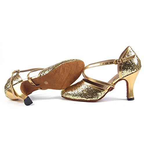 Syrads Damen Standard & Latein Tanzschuhe Salsa Soziale Partei Tango Walzer Tanz - 5