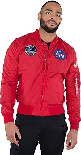 Reversible Jacke (Alpha Industries Jacke MA-1 TT NASA Reversible II, Größe:M, Farbe:speed red)