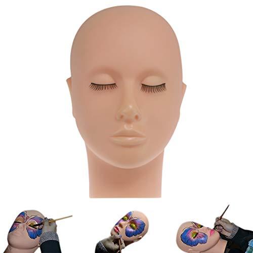 Ambility Mannequin Tête plate Silicone Practice Faux extensions de cils Maquillage Model Massage Training haute qualité