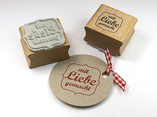Stempel mit Liebe gemacht für DIY, Selbstgemachtes, Papeterie, Etiketten....