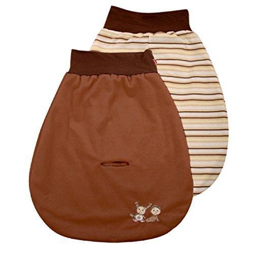 Baby Matex Baby Pucksack/Schlafsack/Autositz Strampelsack - verschiedene Farben braun