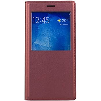 Sun Mobisys Samsung Galaxy A8 (2015) Flip Cover; Contemporary Faux Leather For Allround Protection Phone Caserich Maroon