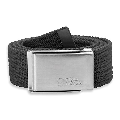 Fjällräven–Cintura da uomo in tela, Uomo, grigio scuro, Taglia unica