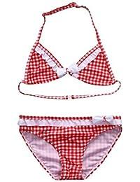 QUICKLYLY Rope Bebe, Bañadores de Dos Piezas para Niñas Bikini Conjunto Traje de Vendaje Baño Raya Top +Inferior Playa Verano 5-9 Años