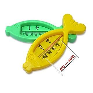 ADAALEN 5pcs reizende schwimmende Fische Kunststoff Baby Thermometer Wassertemperaturmessung Bad Spielzeug