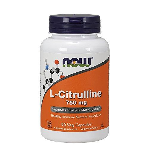 L-citrulline 750 mg - 90 gelules - Now foods