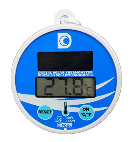 well2wellness® Digitales Pool Solarthermometer Pool Thermometer (024026)