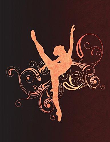 Ballet Arabesque Swirls - Notebook For Dancers: 8.5