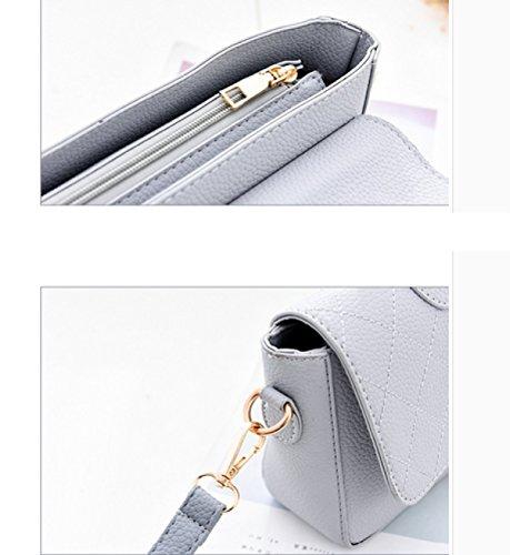 LAIDAYE Kleine Quadratische Freizeithandtasche Damebeutel Handtasche Schultertasche Messenger Bag 6