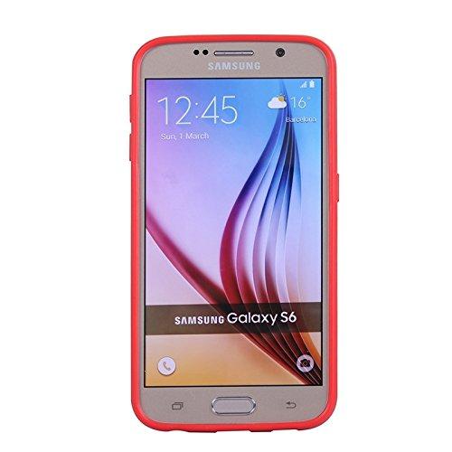 wkae Schutzhülle Fall & Schutzhülle für Samsung Galaxy S6/DM475C/G920farbigem Bumper Rahmen Red