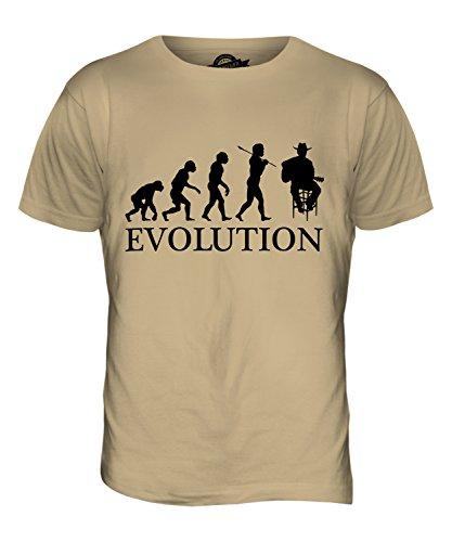 CandyMix Country-Musik Sänger Evolution Des Menschen Herren T Shirt Sand