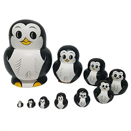 RAILONCH Pinguin Matroschka Form Russische Puppe Geschenk Cartoon -