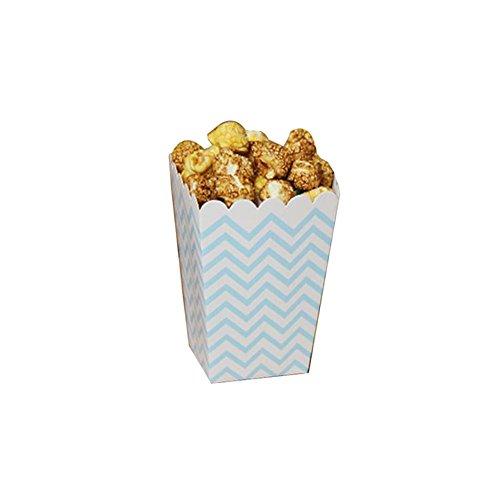 Film-Theater Popcorn-Boxen Party-Boxen - Blaue Wellen - 12PCS