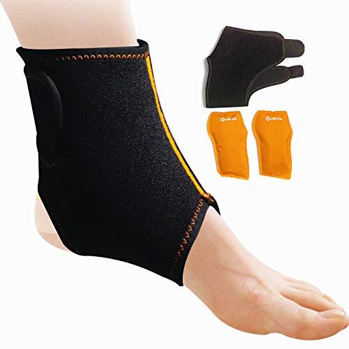 Knöchel Kühlkissen Kühlpads Gel Knöchel Kalt Warm Kompressen Vlieshülle Wiederverwendbare Mit Mikrowellen Geeignet - Großartig für Verletzungen des Knöchelsports -