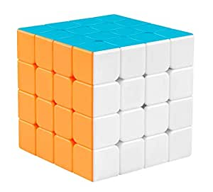 Popsugar 4x4 Stickerless High Speed Magic Cube for Kids, Multicolor