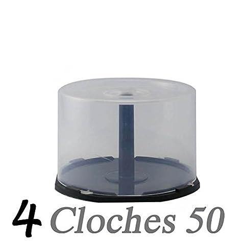 4 Cloches vides (cakebox) pour 50 CD/DVD