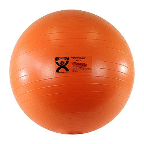 Cando® Deluxe Anti-Burst Gymnastikball, Durchmesser 55cm, orange
